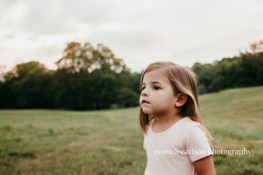 little girl looking into the distance