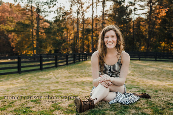 Nettuno senior session by monica carlson photography