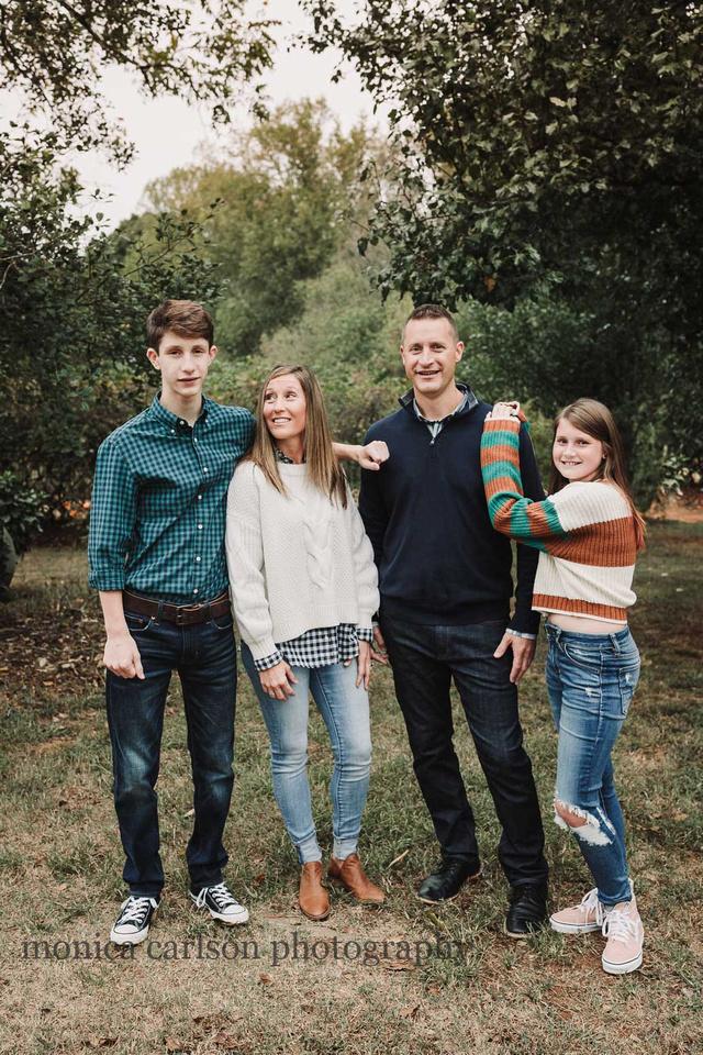 family portrait at milford family farm