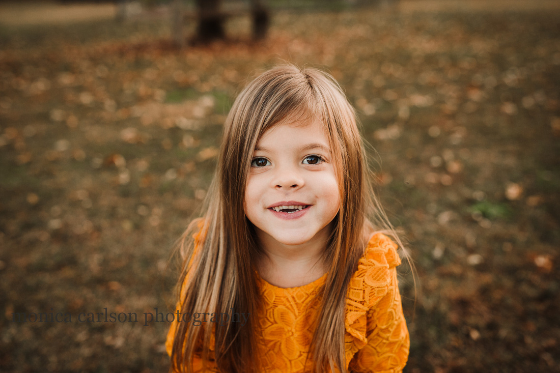 portrait of a six year old girl by monica carlson photography