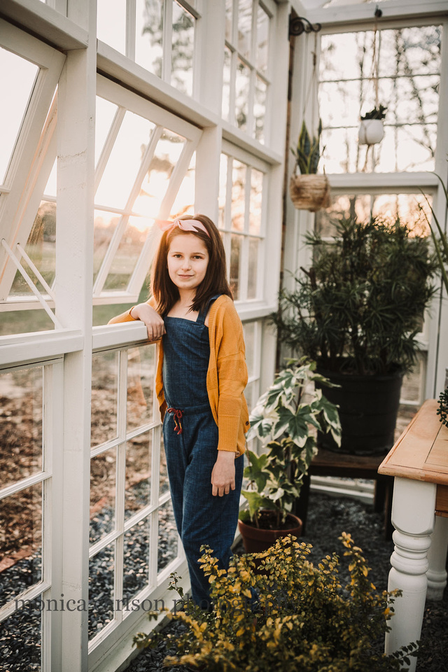 Happy Girl in a greenhouse at Prospect farms