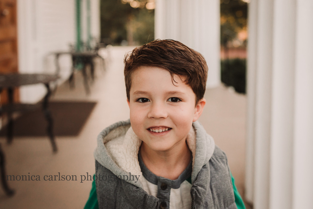 a smiling young boy in Roswell, GA