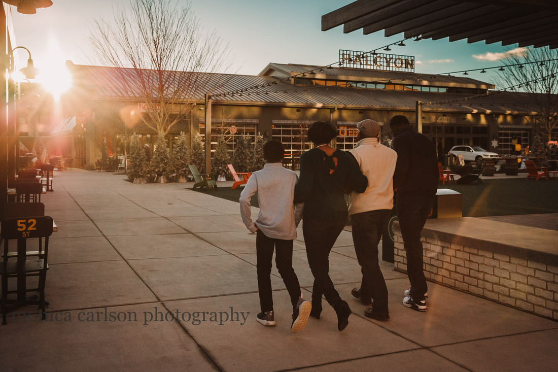 african american family walking together at Halcyon Forsyth