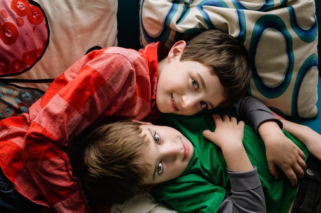 sweet brother - monica carlson photography - newborn family life