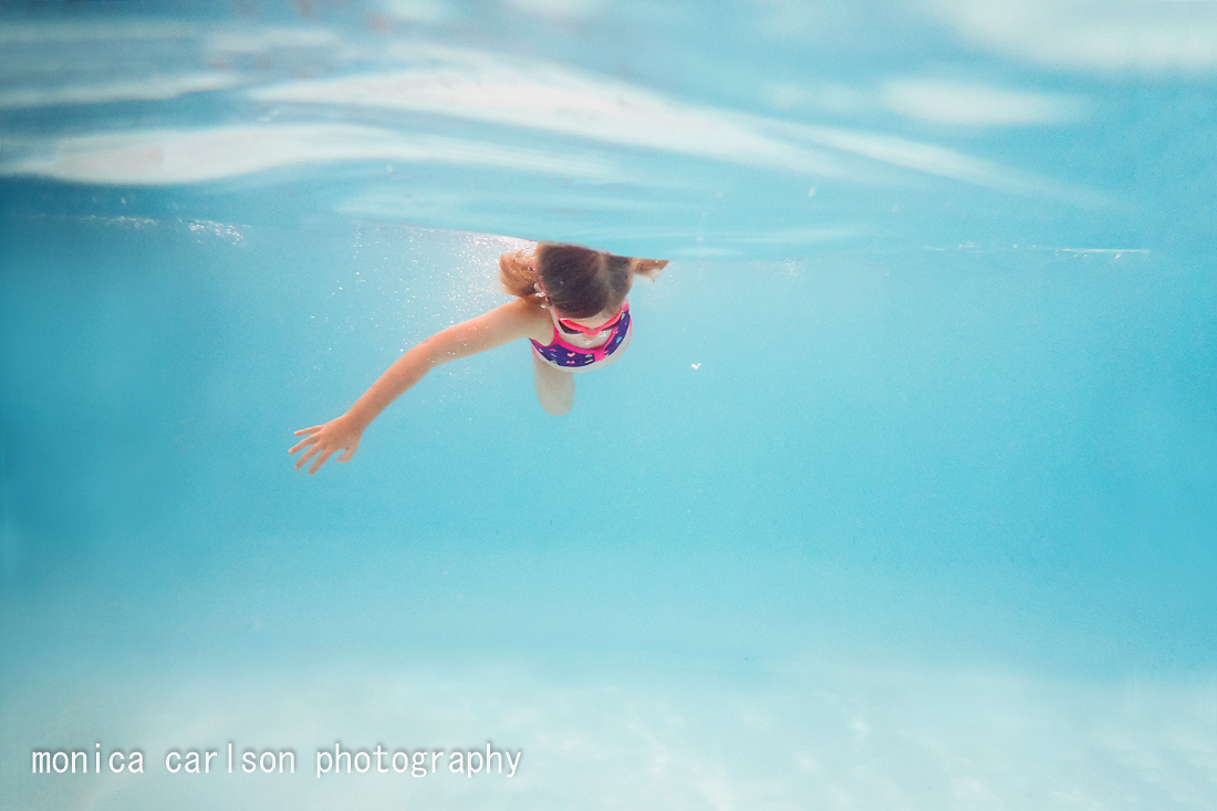 little swimmer by the pool  by monica carlson posted on the Clic
