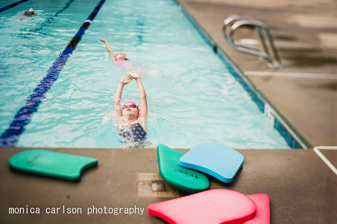 swim team by the pool  by monica carlson posted on the Click Pro